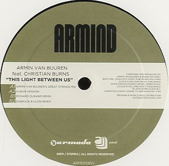 This Light Between Us (Album Version) Armin van Buuren feat Christian Burns