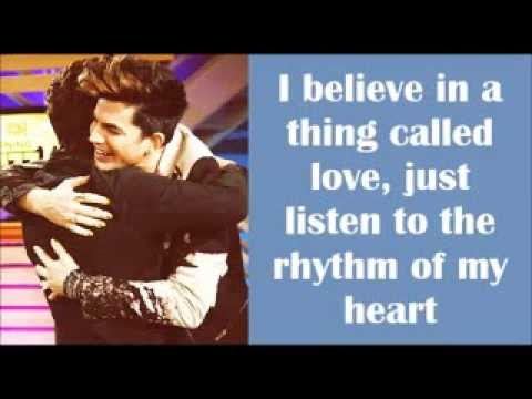 I Believe in a Thing Called Love - Glee Cast Lyrics