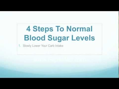 4 Steps To Normal Blood Sugar Levels