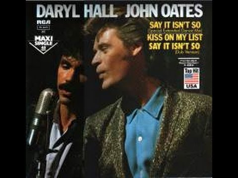"Daryl Hall & John Oates ""Your kiss is on my list"" karaoke"