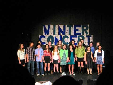 Wheeler Middle School chorus performs Winter Concert 2013