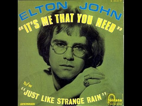 Elton John - It's Me That You Need (1969) With Lyrics!