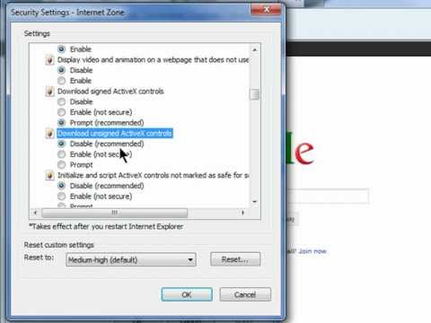 Unblock ActiveX to View HTVSI DVR through Internet Explorer