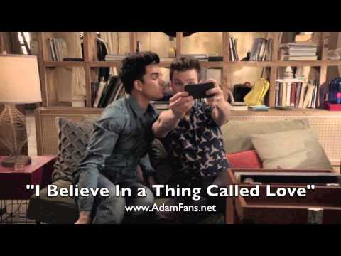 Glee cast ft Adam Lambert - I Believe In a Thing Called Love [HQ audio]